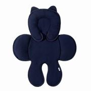 Capa Anatômica Bebê Conforto - Matelado Azul Marinho Batistela Baby