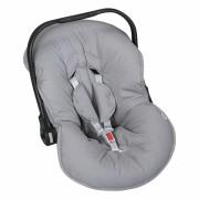 Capa Bebê Conforto Ajustável 3 Peças - Chumbo Batistela Baby
