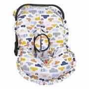 Capa Bebê Conforto Ajustável Estampada 3 Peças - Nuvem Batistela Baby
