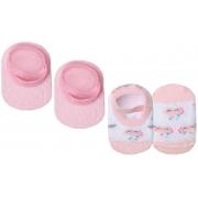 Kit Com 2 Pares Sapatilha Nuvem Rosa e Rosa Básica Lupo Baby
