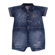 Macacão Curto Jeans Forest Sonho Mágico