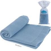 Manta Tricô Azul Bebê Pimpolho