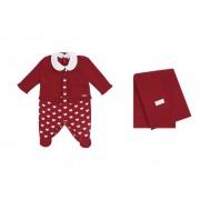 Saída Maternidade Corações 3PCS Vermelha Colibri