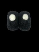 Sapatinho Especial Crochê- Preto Bilu Teteia