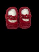 Sapatinho Especial Crochê- Vermelho Bilu Teteia