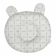 Travesseiro Anatômico - Quadriculado Cinza Batistela Baby
