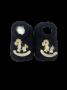 Sapatinho Crochê Especial- Cavalinho de Pau Azul Marinho Bilu Teteia