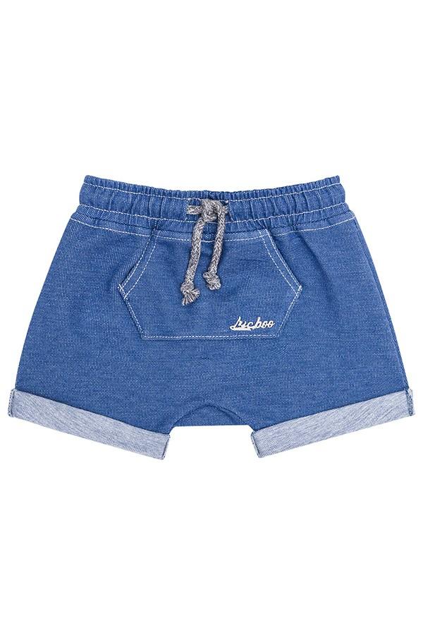 Bermuda em Malha Denim Jeans Claro - Luc.Boo