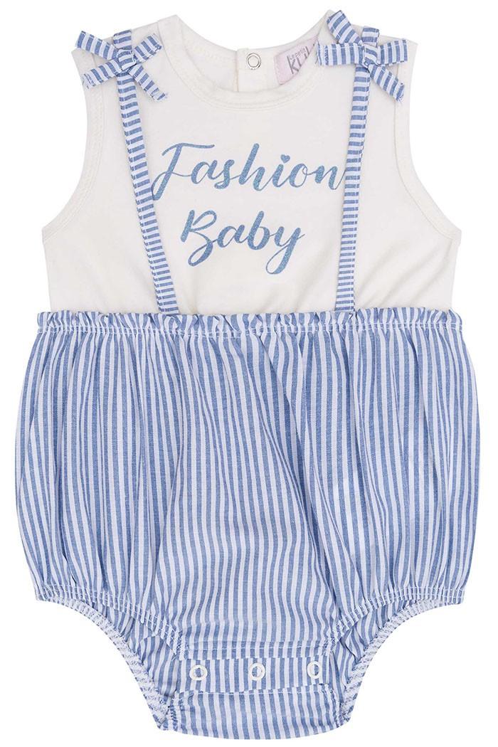 Body Regata Cotton e Tricoline Fashion Baby - Kukie