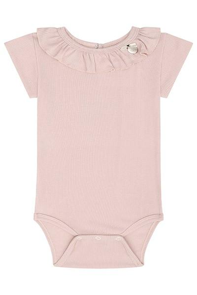 Body em Malha Canelada e Short em Super Cetim - Infanti
