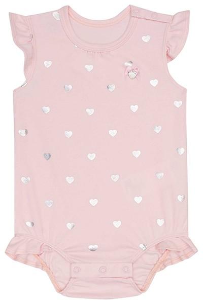 Body em Suedine Rosa - Infanti