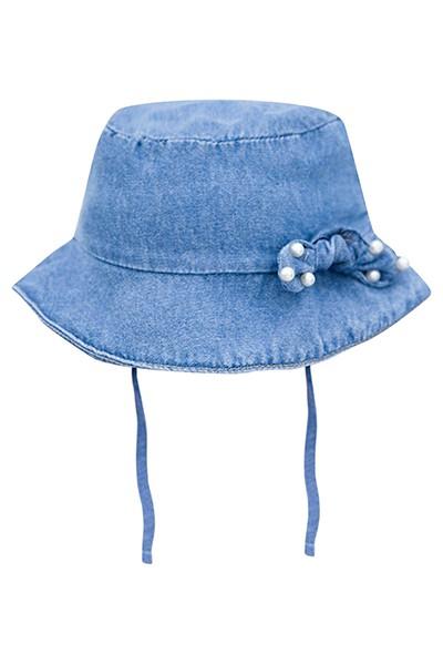 Body em Suedine Shorts e Chapéu em Jeans sem Elastano - Infanti