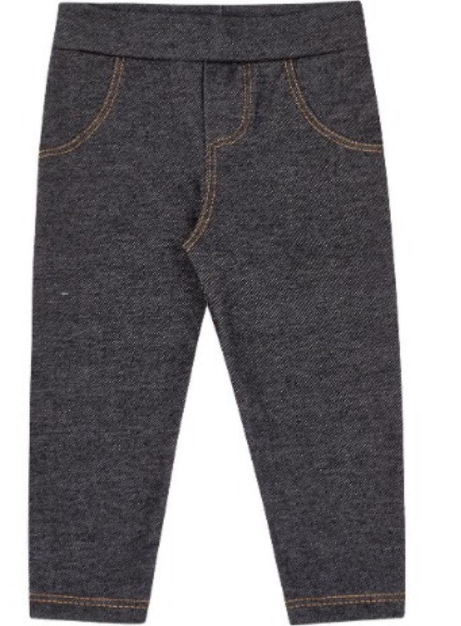 Calça Molecotton Jeans Preto kiko Baby