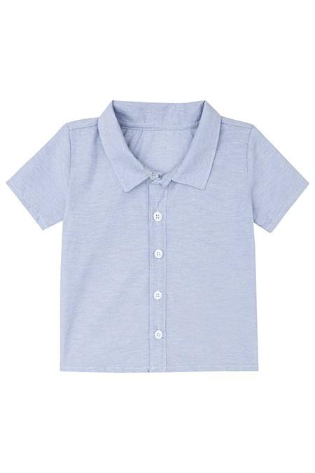 Camisa Tricoline Maquinetado, Body em Suedine e Bermuda em Sarja - Luc.Boo