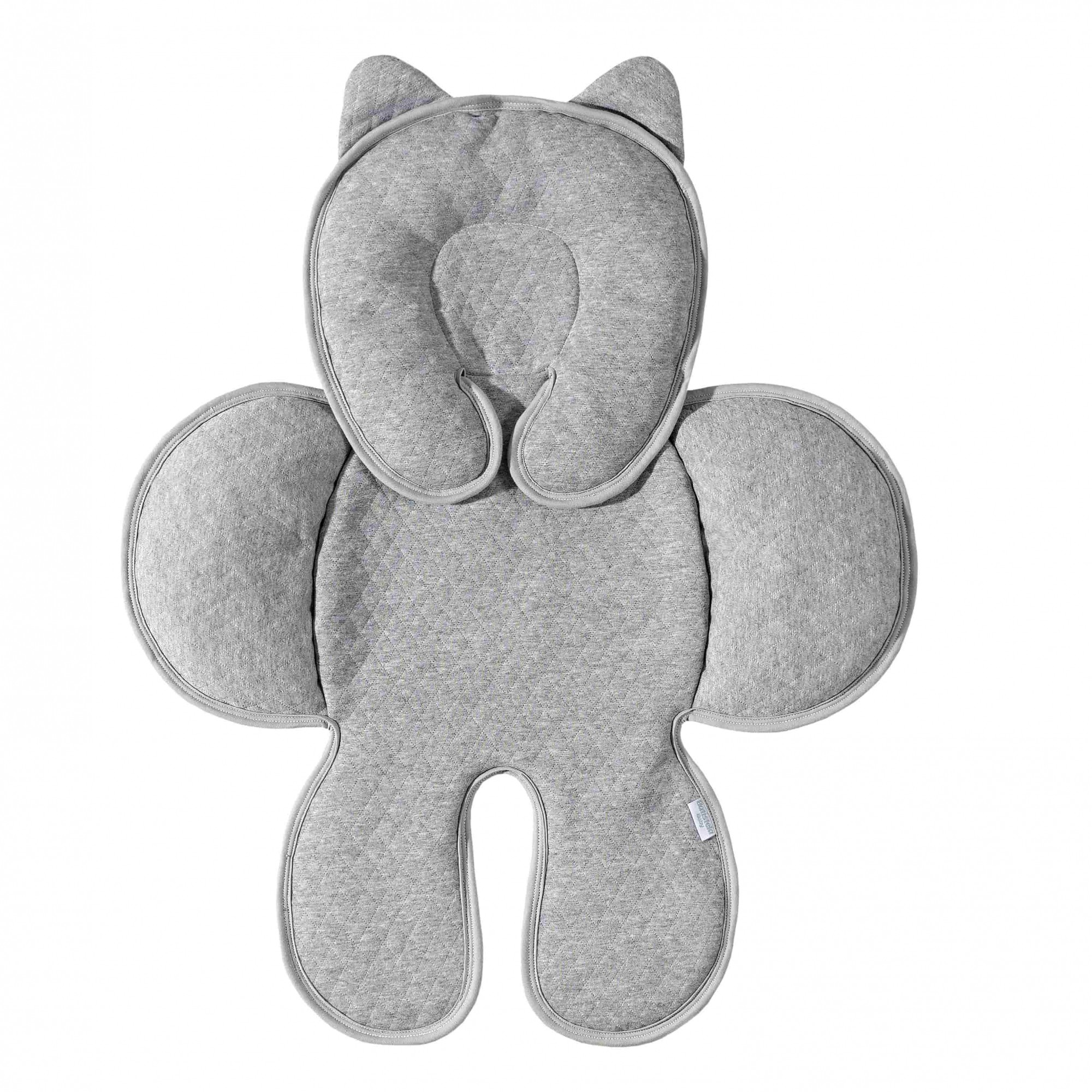 Capa Anatômica Bebê Conforto - Matelado Cinza Batistela Baby