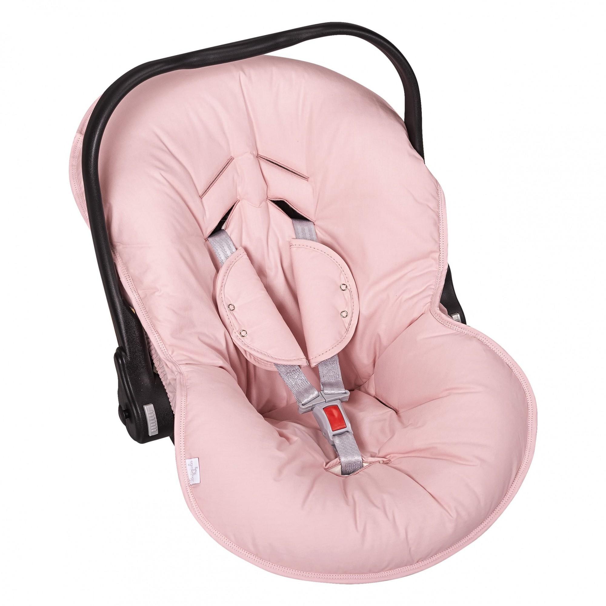 Capa Bebê Conforto Ajustável 3 Peças - Rosê Batistela Baby