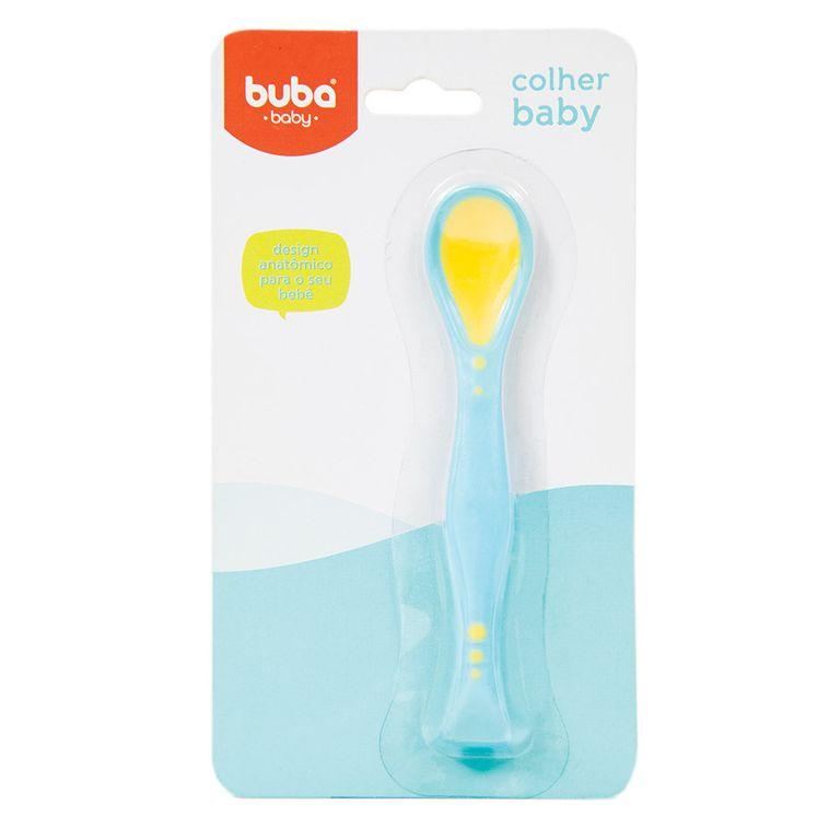 Colher Flexível Baby Buba- Azul