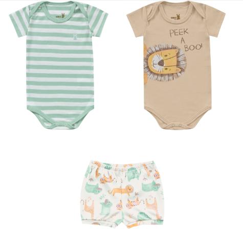 Conjunto 2 Body e Short Kiko Baby