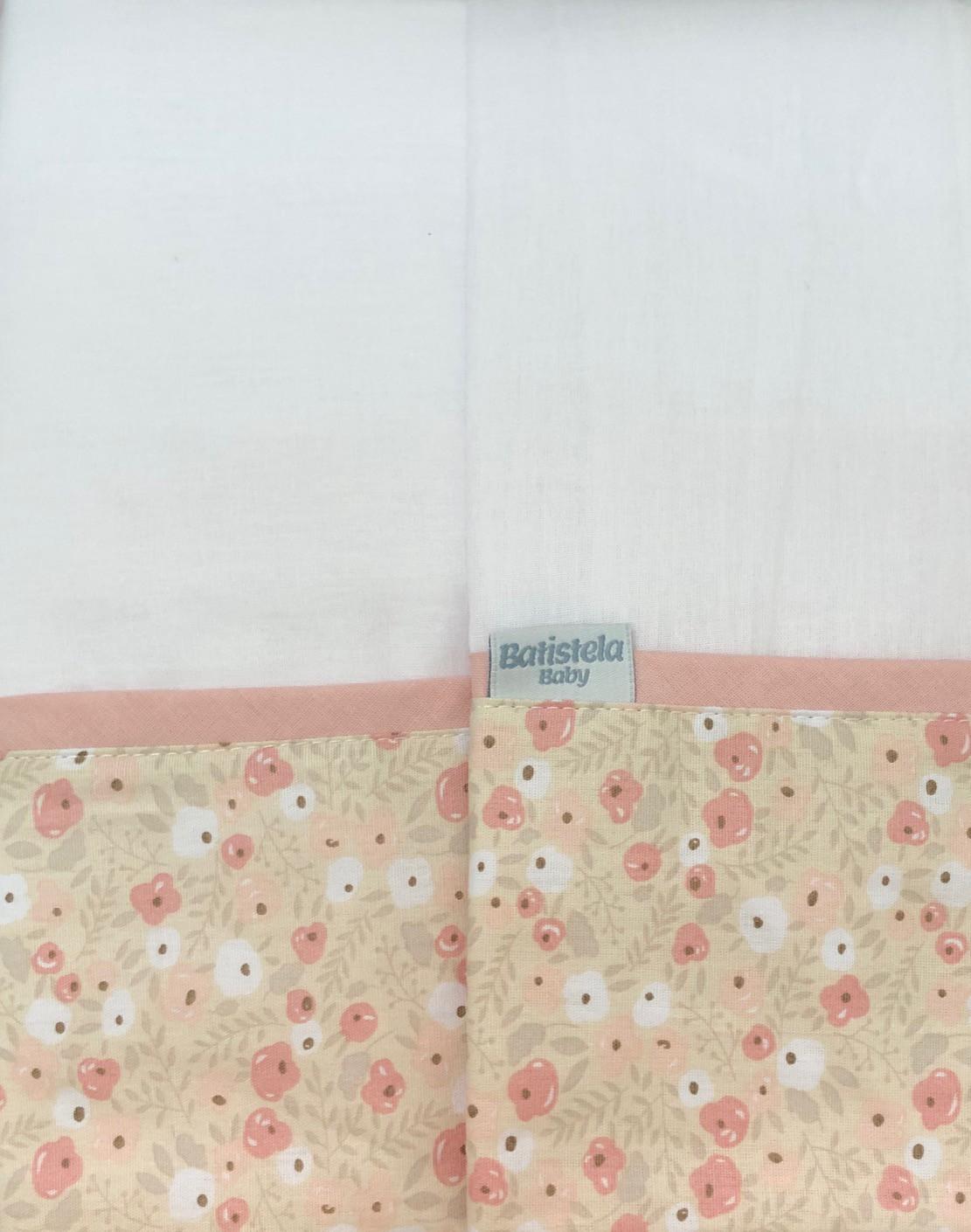 Jogo de Lençol Estampado 3 Peças - Floral Batistela Baby