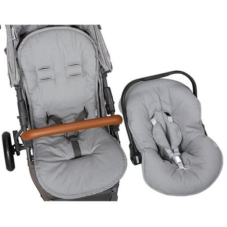 Kit Capa Para Bebê Conforto e Capa Para Carrinho Chumbo Batistela Baby