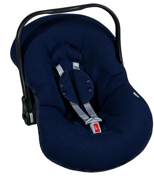 Kit Capa Para Bebê Conforto e Capa Para Carrinho Matelado Azul Marinho Batistela Baby