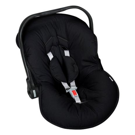 Kit Capa Para Bebê Conforto e Capa Para Carrinho Preto Batistela Baby
