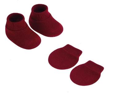 Kit Luva e Sapatinho Vermelho Pimpolho
