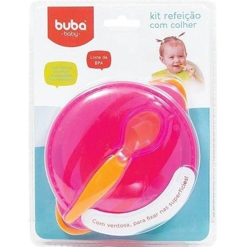 Kit Refeição Com colher Buba- Rosa