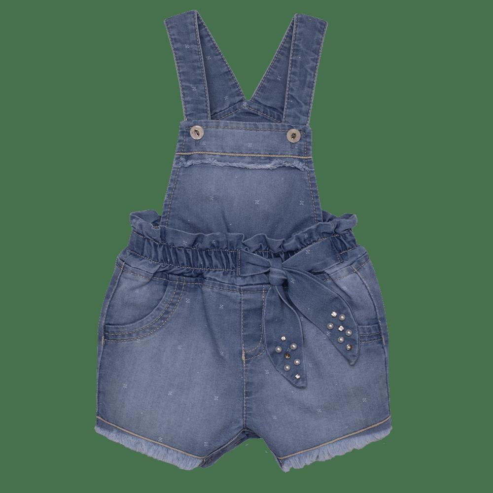 Macacão Curto Jeans My Pearl Sonho Mágico