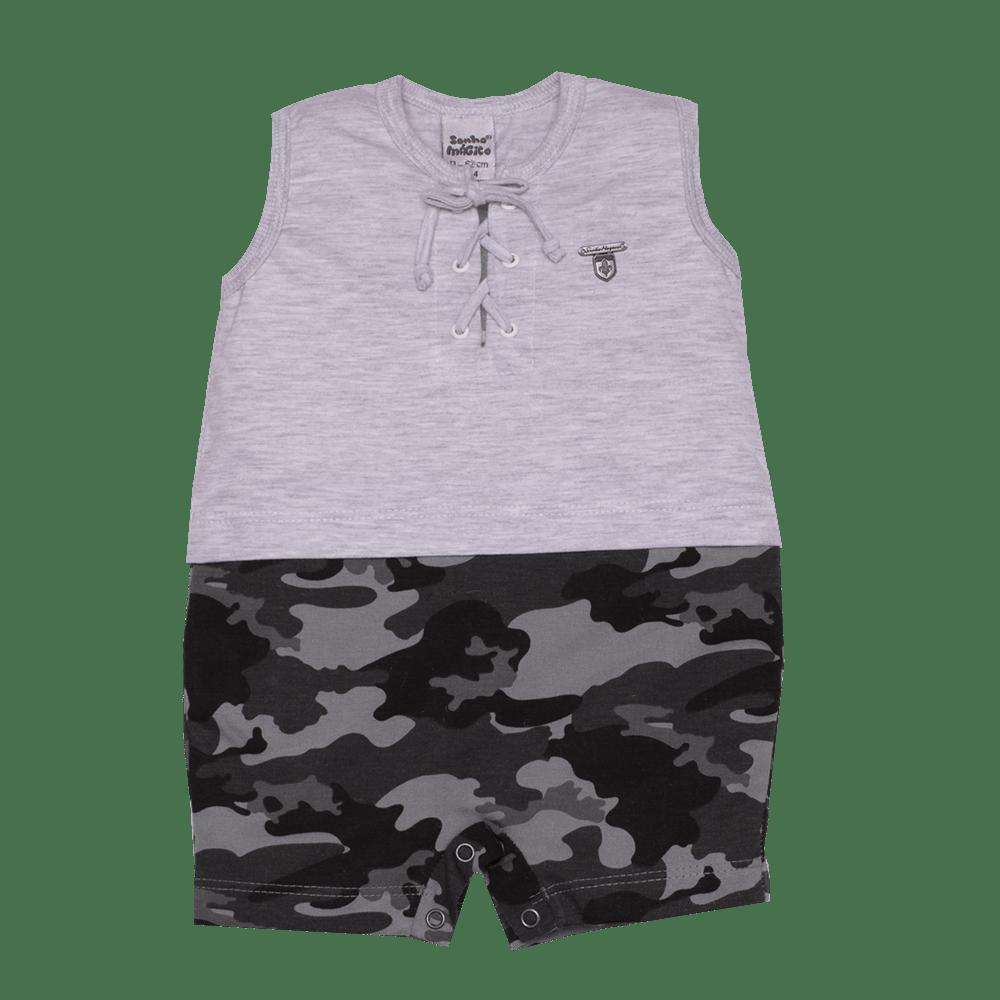 Macacão Curto Malha Military Sonho Mágico