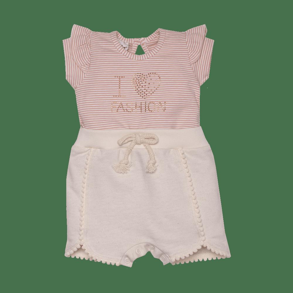 Macacão Curto Moletom/Cotton I Love Fashion Sonho Mágico