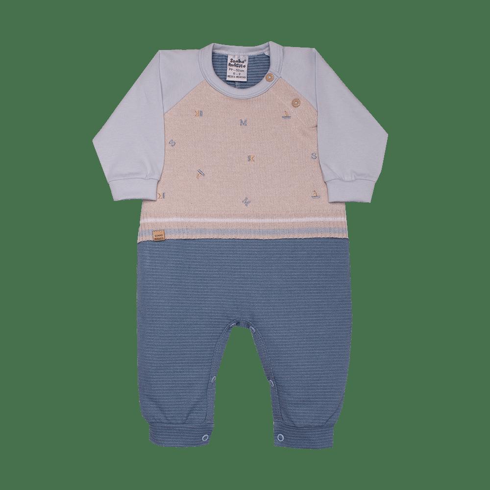 Macacão Longo Malha/Tricô Caravel Sonho Mágico Azul