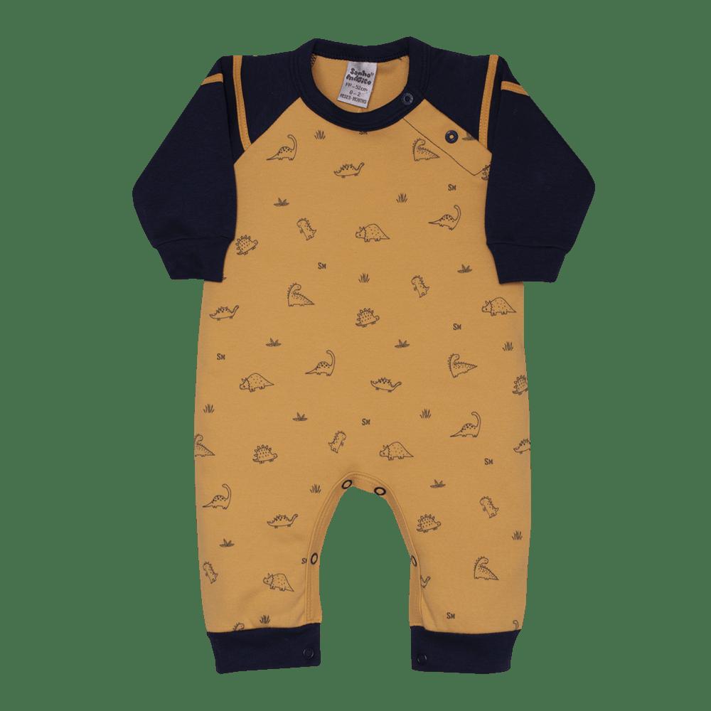 Macacão Longo Suedine Safari Sonho Mágico Mostarda