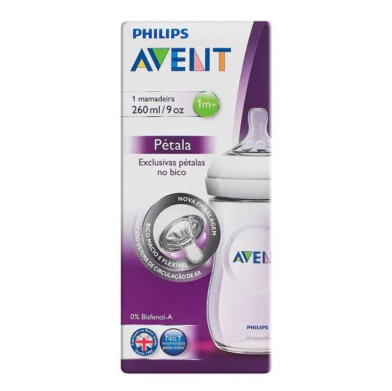 Mamadeira Pétala Transparente Philips Avent 260 ml