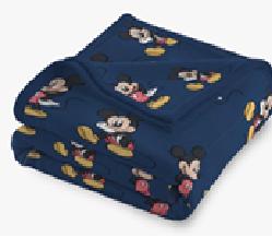 Manta Kids Disney Mickey Azul Bic Laço Bebê