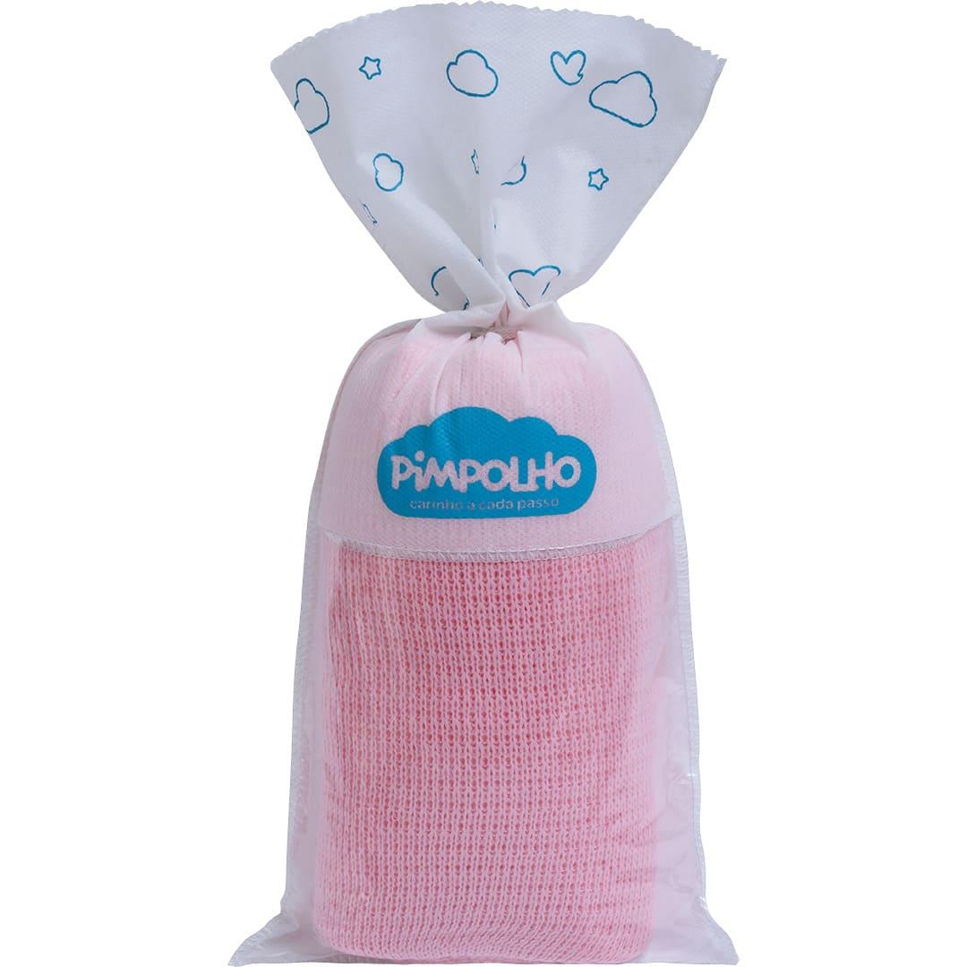 Manta Tricô Rosa Bebê Pimpolho