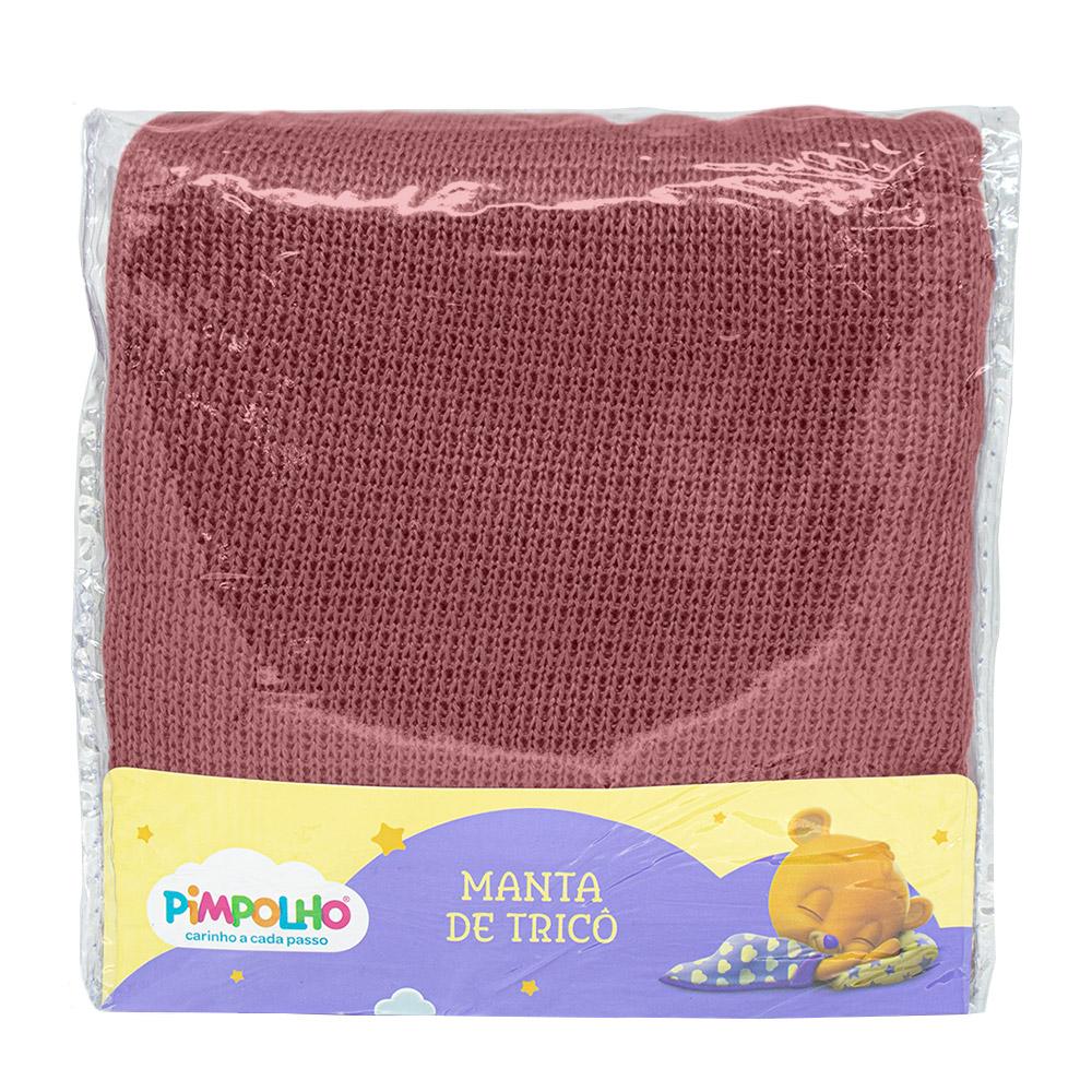 Manta Tricô Rosê Pimpolho
