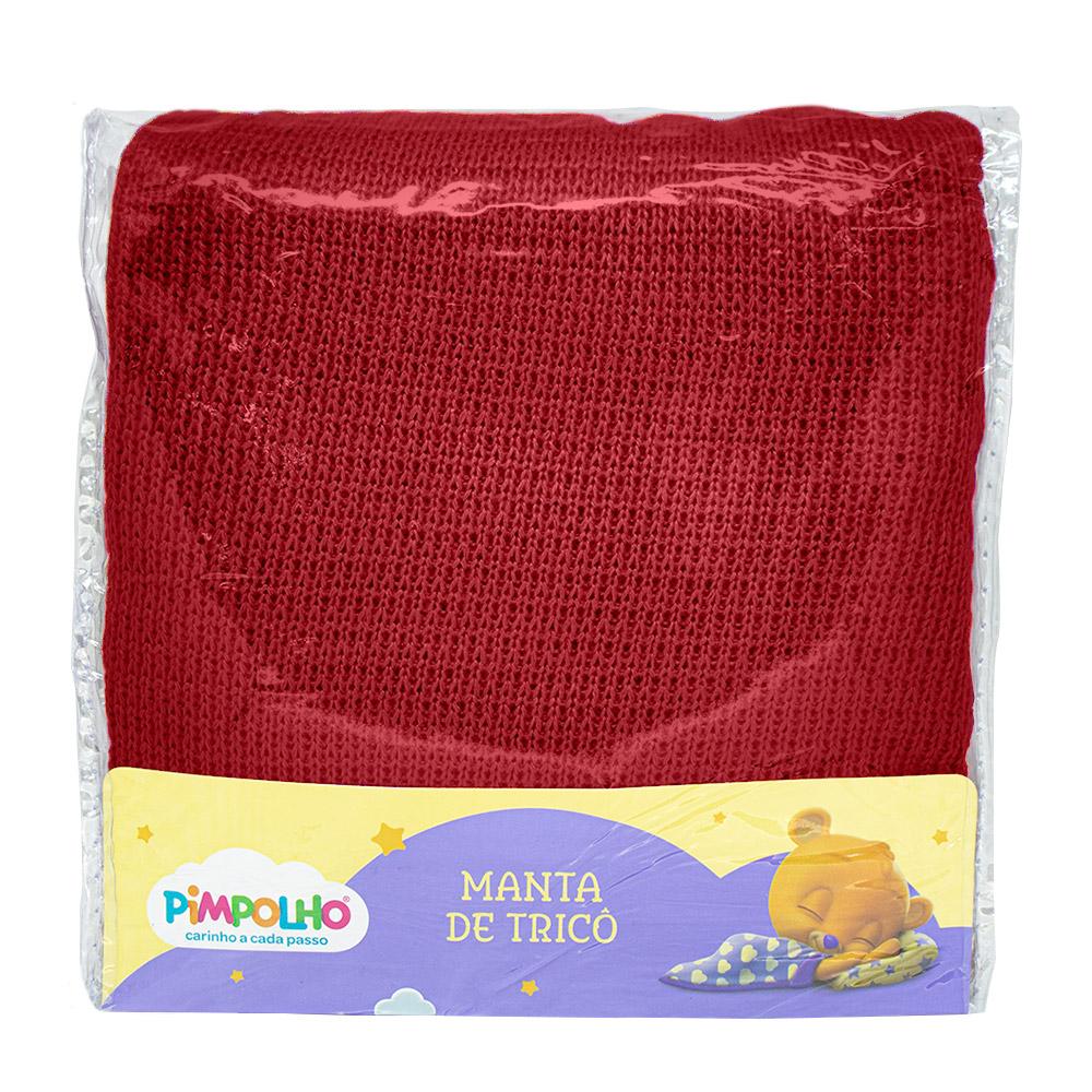 Manta Tricô Vermelho Pimpolho