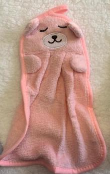 Naninha Ursinho Rosa Claro Laço Bebê