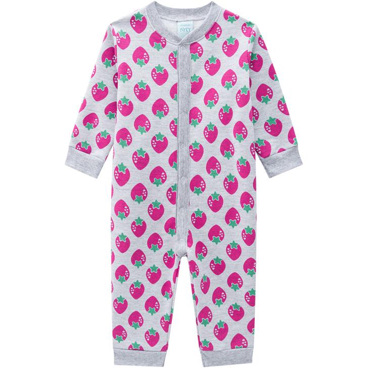Pijama Macacão Moranguinhos Cinza Kyly