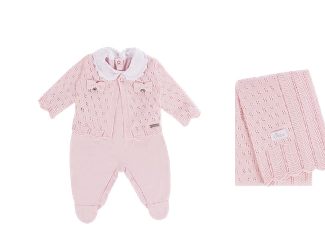Saída Maternidade Chevron 3PCS Rosa Colibri