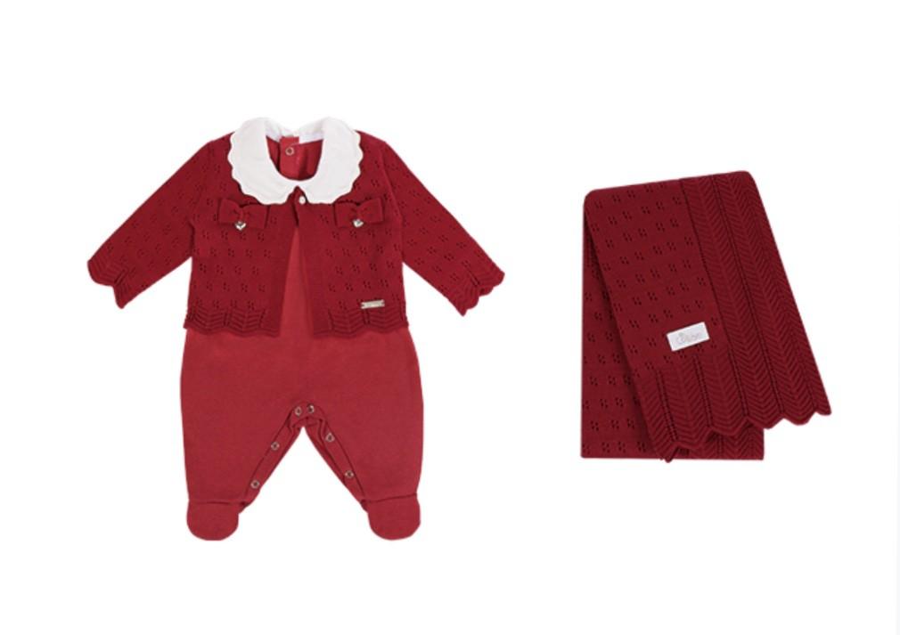 Saída Maternidade Chevron 3PCS Vermelha Colibri