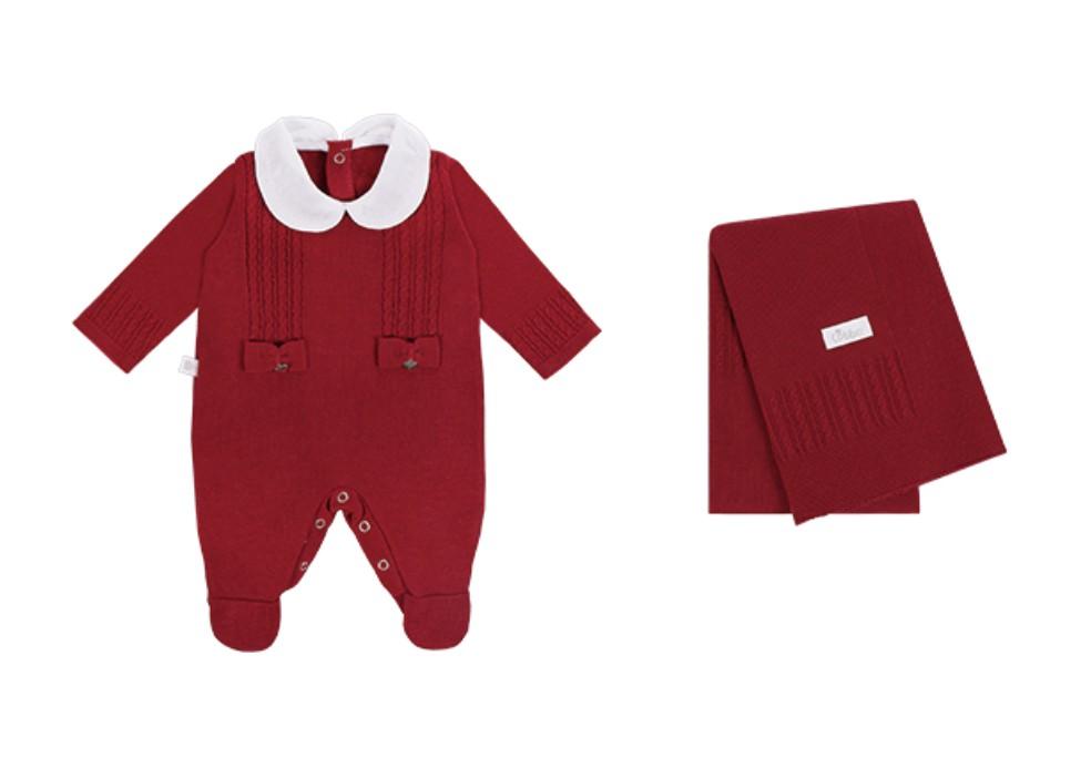 Saída Maternidade Laços 2PCS Vermelho Colibri