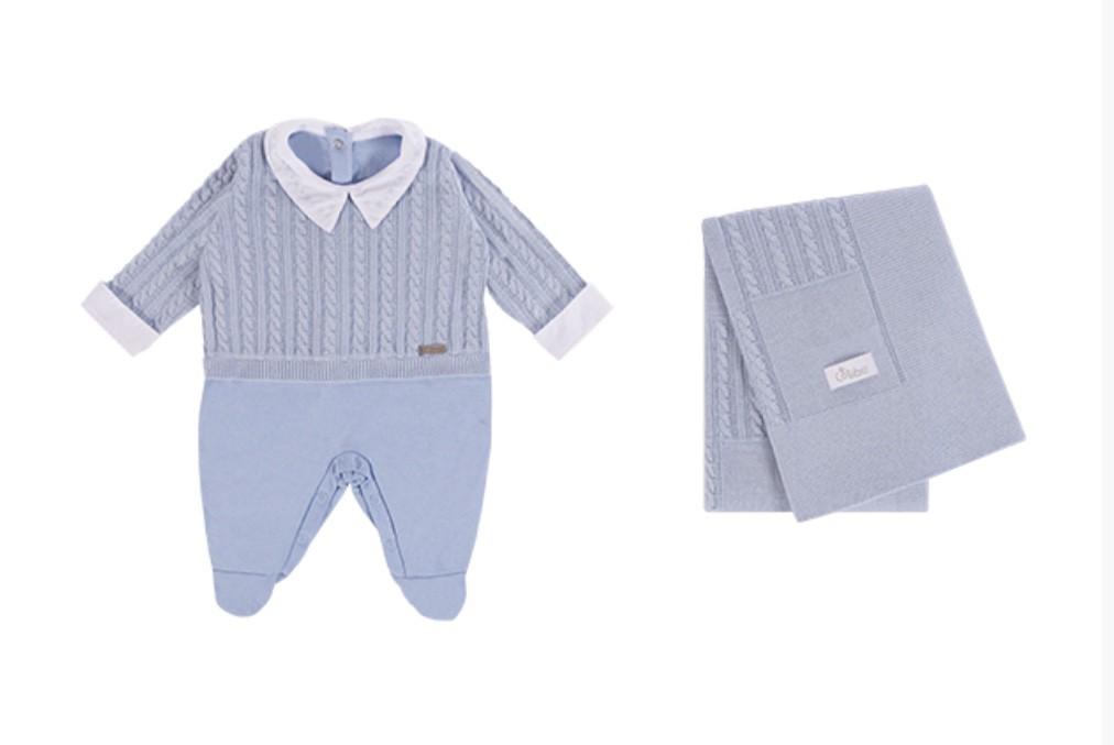 Saída Maternidade Tranças 2PCS Azul Colibri