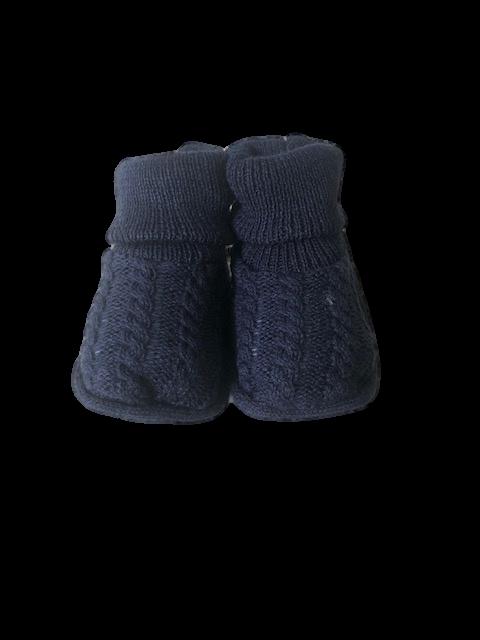 Sapatinho Crochê- Azul Marinho Bilú Tetéia