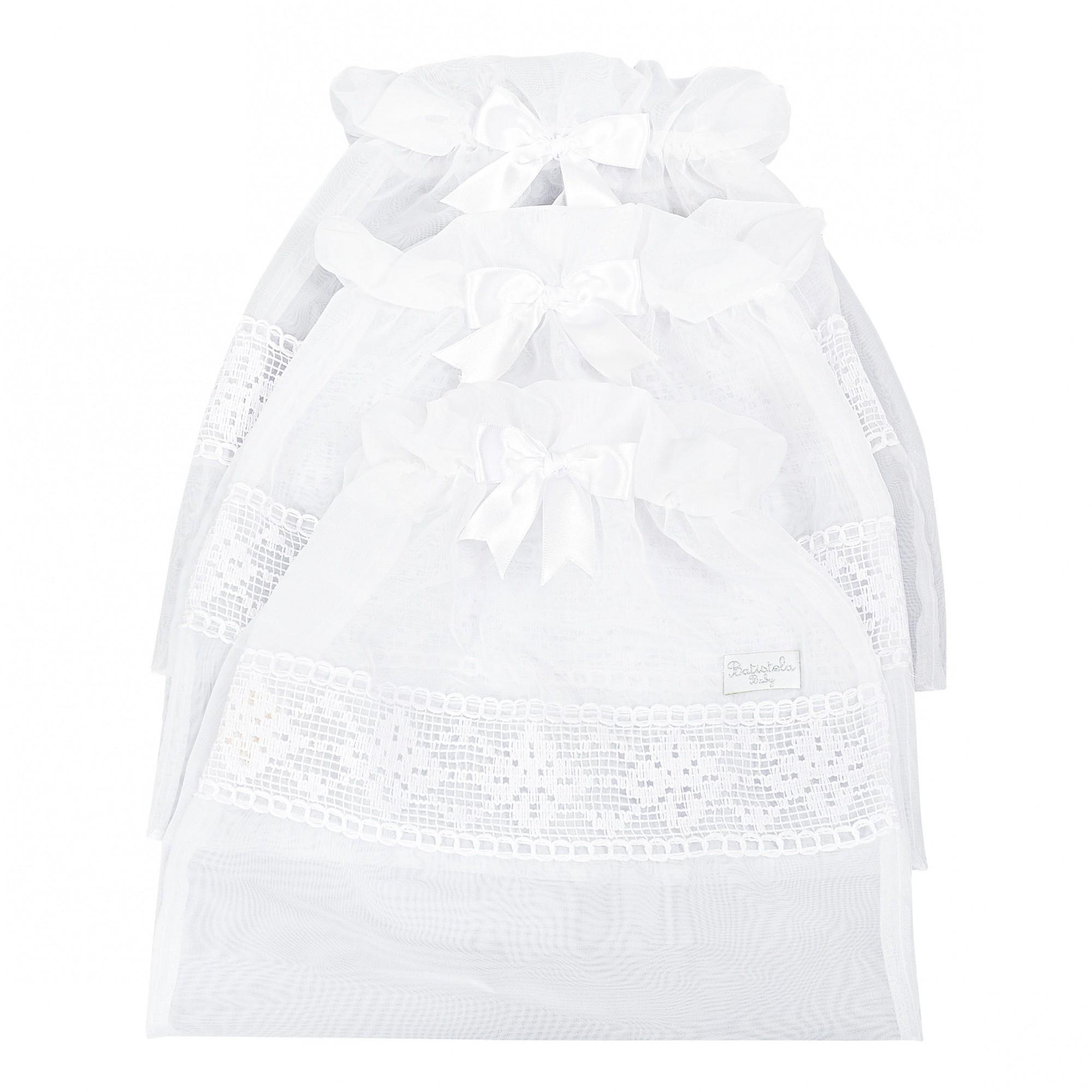 Saquinho Maternidade 3 Peças - Branco Batistela Baby
