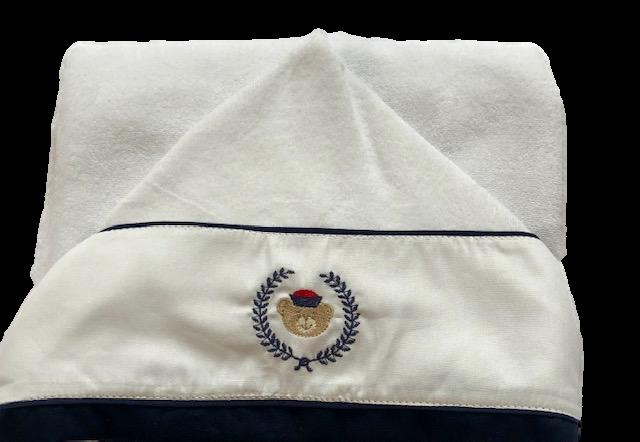 Toalha Felpuda Com Capuz Ursinho Marinheiro Bilú Tetéia