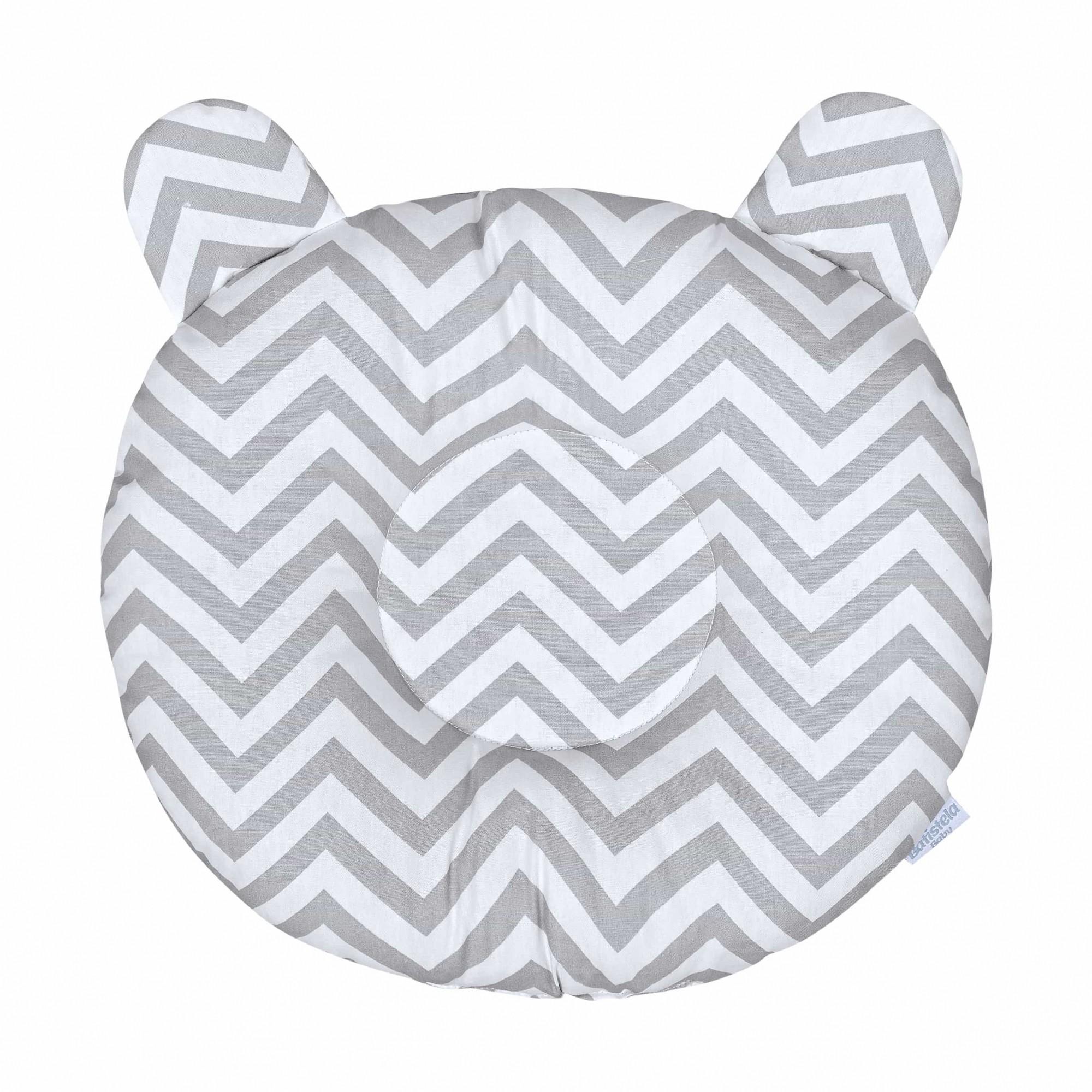 Travesseiro Anatômico - Chevron Cinza Batistela Baby