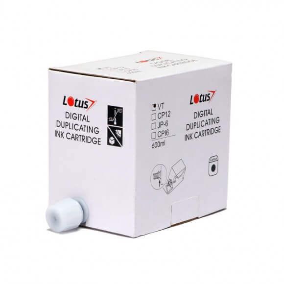 Cartucho de Tinta Compatível Lotus Preto p/ Duplicador Ricoh SS810 VT/SS - 600ml