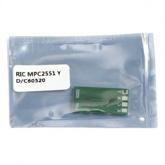 Chip Compatível Amarelo p/ Ricoh MPC 2551